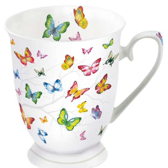 Ambiente: 'Colourful Butterflies' /Tasse klein