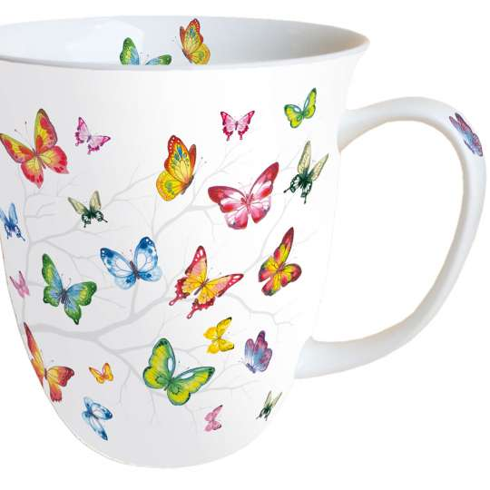 Ambiente: 'Colourful Butterflies' /Tasse gross