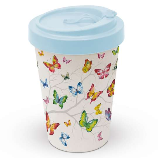 Ambiente: 'Colourful Butterflies' / Reisebecher