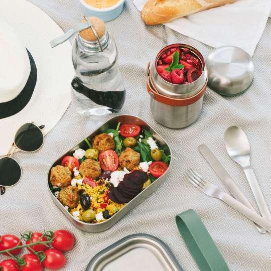 black+blum Edelstahl-Lunchbox klein