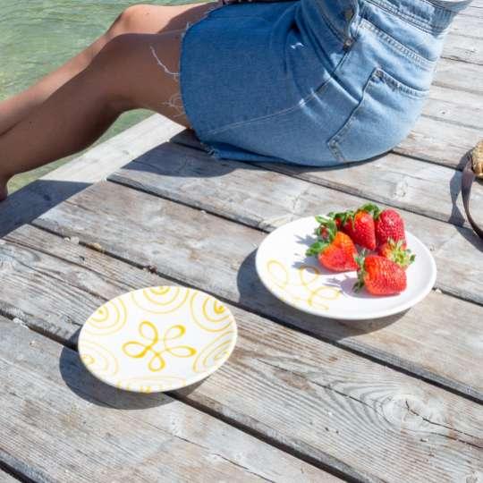 Gmundner Keramik: 'Sommer, Sonne, Sonnenschein', Mood 2, Badesteg