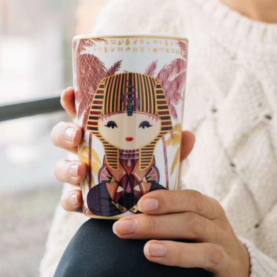 Eigenart: Porzellanbecher TEAEVE / Dekor 'Little Egypt', Mood 2