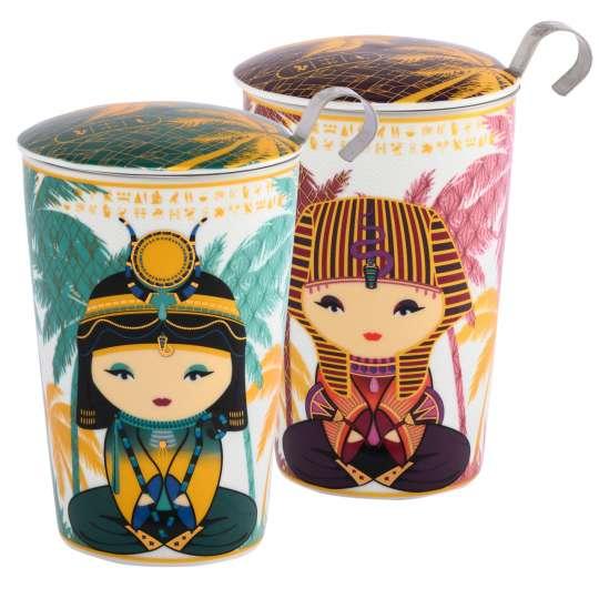 Eigenart: Porzellanbecher Teaeve Dekor 'Little Egypt' / 80047