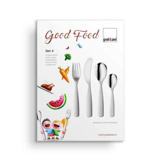 Gnali&Zani GOOD FOOD Kinderbesteck Set 4-teilig Geschenkbox