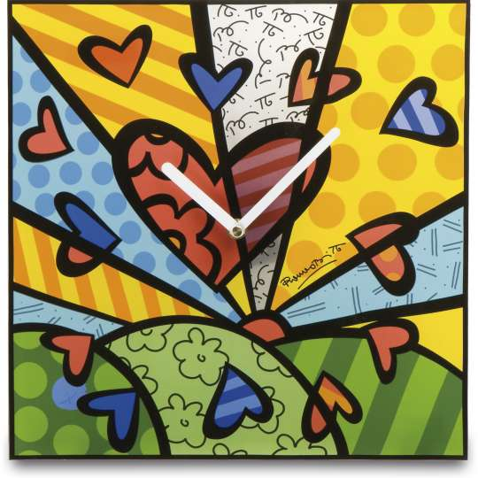 Goebel Pop Art Romero Britto Wanduhr A New Day_Freistller