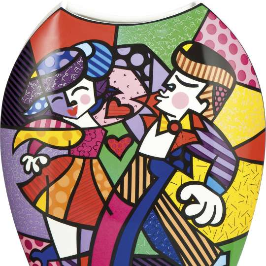 Goebel Pop Art Romero Britto Vase Swing_Freisteller