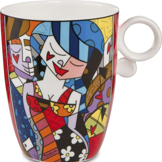 Goebel Pop Art Romero Britto Kuenstlerbecher Tonight_Freisteller