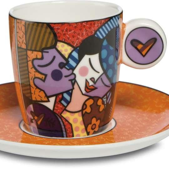 Goebel Pop Art Romero Britto Espressotasse Kissing_Freisteller