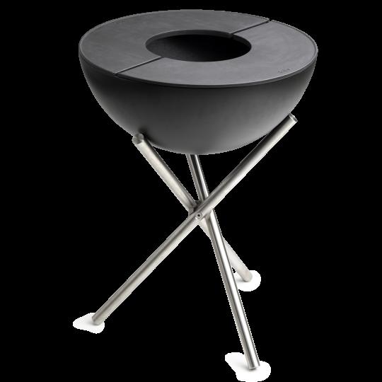 Bowl von höfats - auf Dreibein hoch, mit Gußplatte