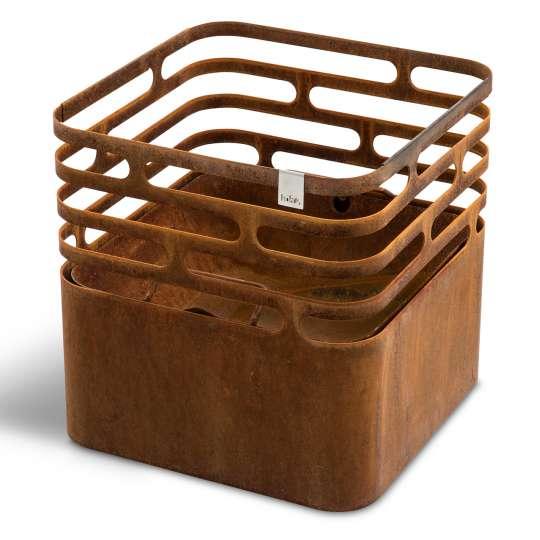 Cube von höfats - Feuerkorb, Rostoptik