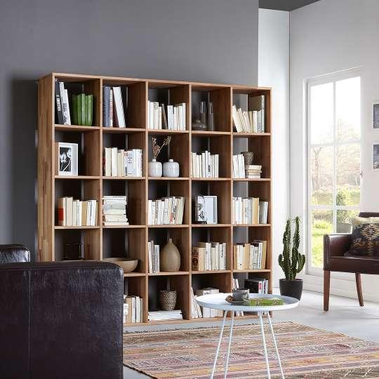 Bücherregal aus Kernbuche massiv