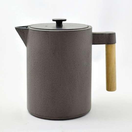 JA-UNENDLICH: Teekannen aus Gusseisen, Bauhaus, Modell Kohi, 1,2 l, 9940