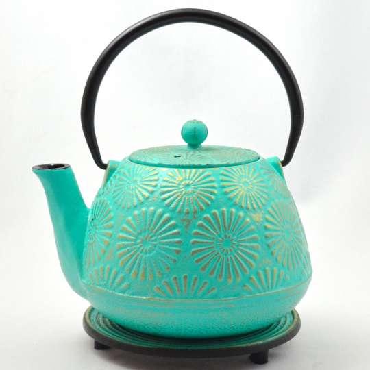 Blumig und Maritim: Teekannen von ja-unendlich / Teekanne, Modell Hani, hellblau