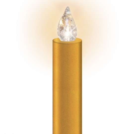 Lumix - LED-Christbaumkerze gold