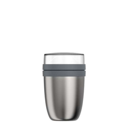 Mepal: Thermo-Lunchpot Ellipse Edelstahl 500 + 200 ml, gebürstet