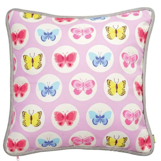 Mila: 'Fly with the butterfly' / Kissen pink, 30400