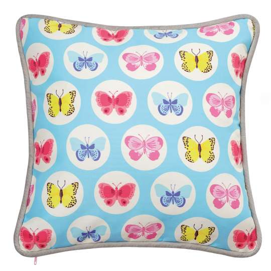 Mila: 'Fly with the butterfly' / Kissen blau, 30401