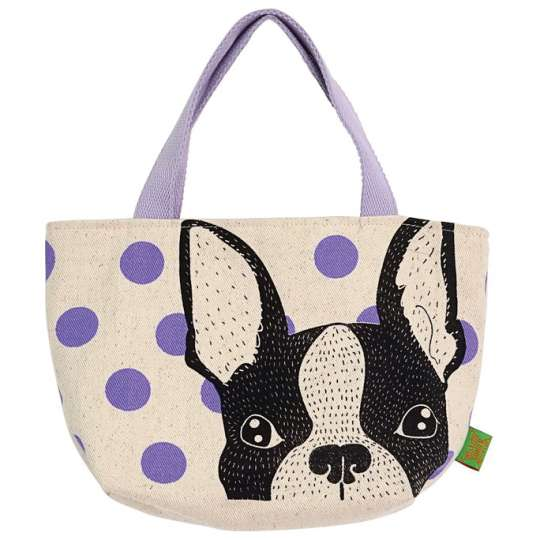 Mila: Kollektion 'Dogs and Cats' / Handtasche Dog lila, 30320