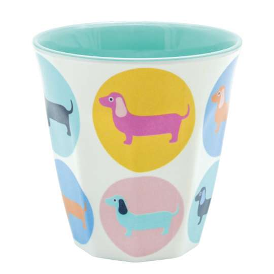 Mila: Kollektion Ginger / Thema 'Sausage Dog' - Melamin Becher klein 30543