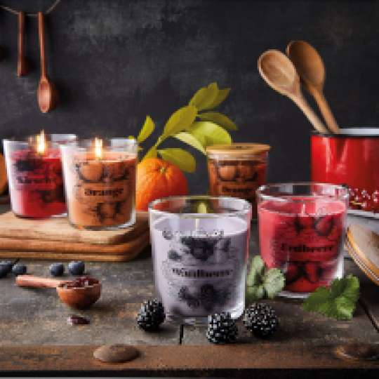 ENGELS Kerzen: Marmeladenduefte im Glas