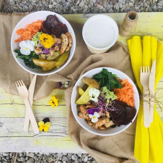 Gmundner Keramik Bowl Schüssel - gesundes Abendessen