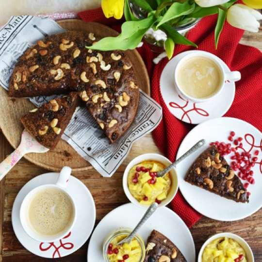 Gmundner Keramik Schoko-Cashew-Kuchen