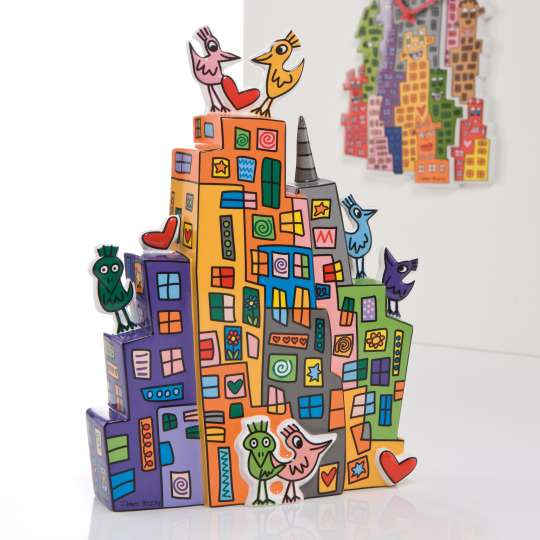 James Rizzi – Sunset in New York