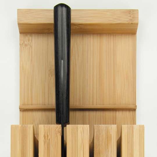 Schön, praktisch, nachhaltig: Messerblock aus Bambus