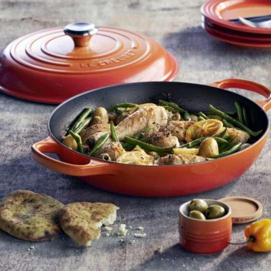 Le Creuset Gourmet-Profitopf innen schwarz Ofenrot