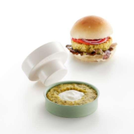 Veggie Burger Presse von Lékué