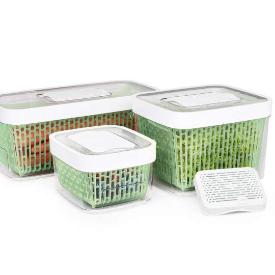 Frischhalteboxen für Kräuter und Gemüsefacheinsatz