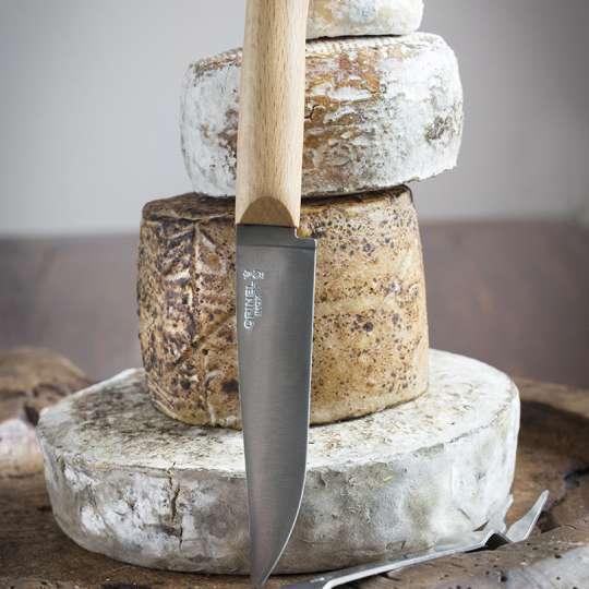 Opinel Messer mit Buchenholzgriff und Klinge aus rostfreiem Stahl