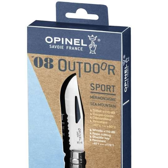 Opinel Outdoor No08 Fluo gelb verpackt