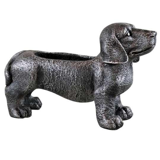 Dekohund Pflanzschale