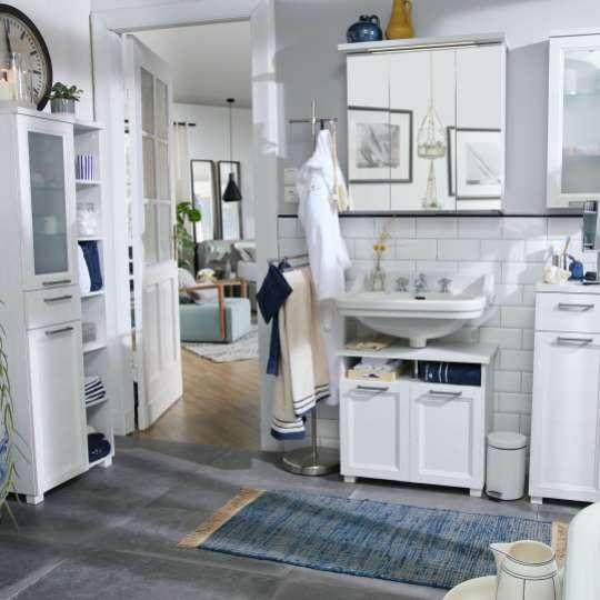 Tom Tailor Home Hamptons White Pine - Badmöbel im Landhausstil