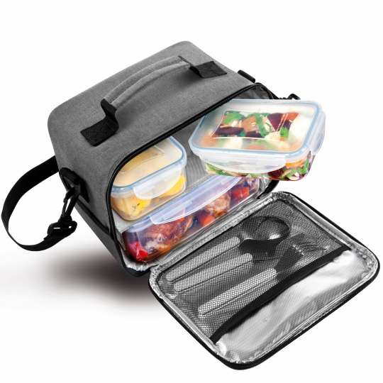 Tescoma Thermotasche FRESHBOX mit 3 Dosen anthrazit