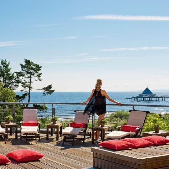 Strandhotel Ostseeblick Terrasse
