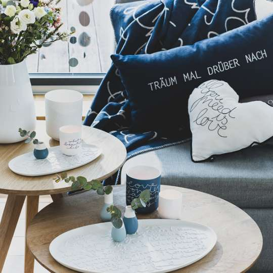 räder: Das Leben ist schön! Kollektion in sanftem Weiss und kräftigem Blau