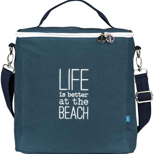 Räder - Serie: Meer als Worte / Kühltasche Life is better at the beach (navy).