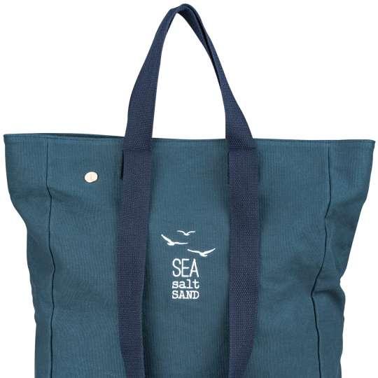 Räder - Serie: Meer als Worte / Strandtasche 'sea salt sand', blau