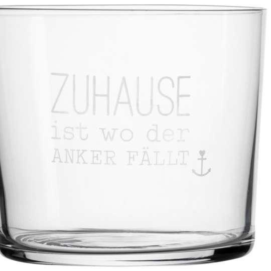 Räder - Serie: Meer als Worte / Wasserglas 'Zuhause...'