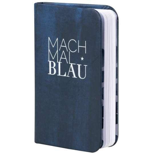 Tintenblau: Notizbuch- Mach mal Blau von Raeder