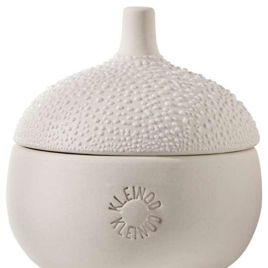 Räder: raffinierte Herstellung: Vasen, Schalen und Dosen in Perlenoptik / Perlendose mittel