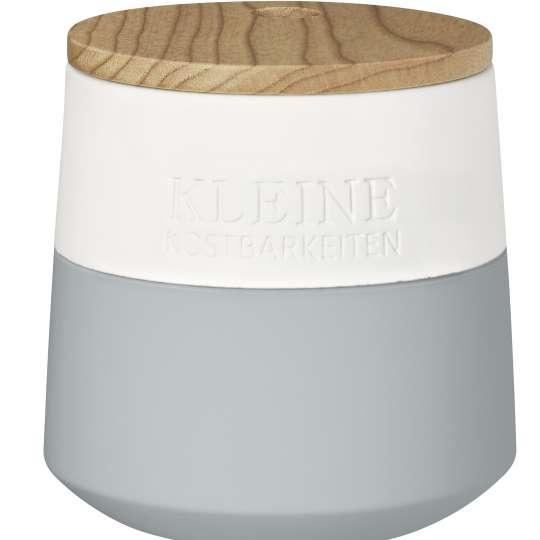 Kleine Kostbarkeiten Aufbewahrungsdose aus Steingut mit Holzdeckel