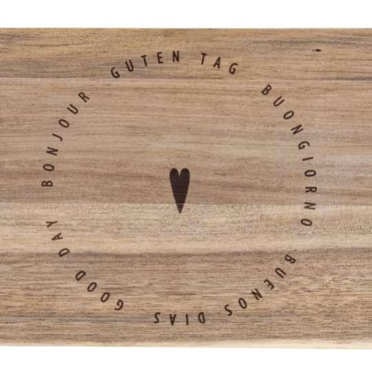 Serie 'Guten Appetit' Brettchen aus unbehandeltem Akazienholz