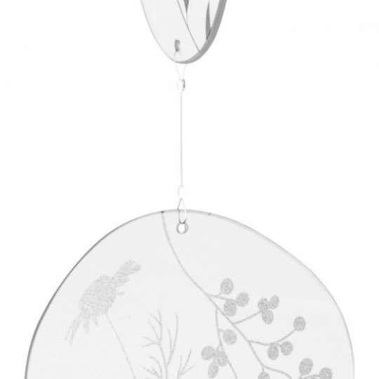 Räder: Poesien auf Glas / Glaskette / Motiv 'Blumen'