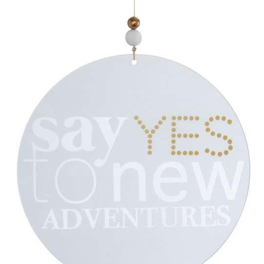 Räder: Poesien auf Glas / Fenster- und Wanddekoration / Motiv 'Say yes'
