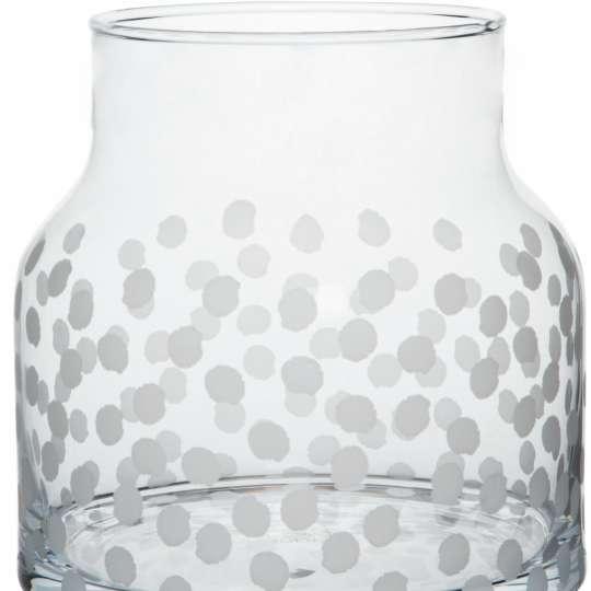 Räder: Poesien auf Glas / Vase / Motiv 'Punkte'