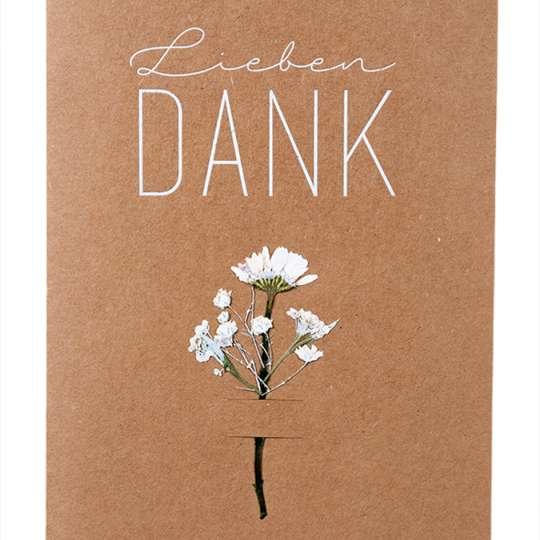 Raeder Blumenkarte - Lieben Dank