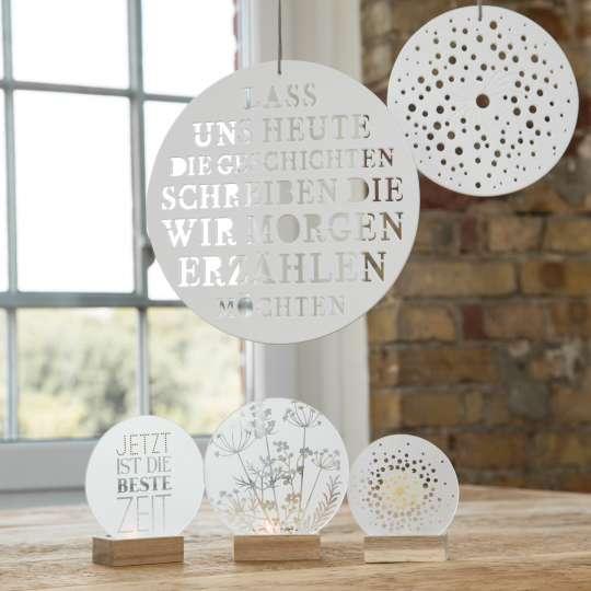 Räder: Poesien auf Glas / Mood Glasscheiben